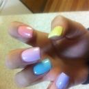 pastel spring smartie nailes