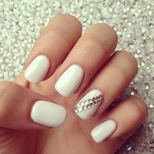 #prom#nails#white#pretty