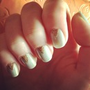 Mint & Gold nails