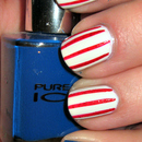 Americcan Flag Inspired Nails