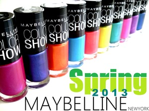Blog post: http://www.beautybykrystal.com/2013/03/maybelline-color-show-spring-2013.html