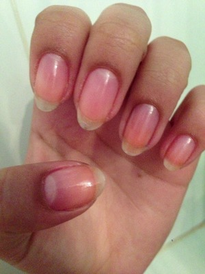 Soak nails and cuticles in olive oil for 5-8 minutes... Scrub nail bed with brown sugar. Then, rinse with warm water and hand friendly soap. Then let cold water run over nails.