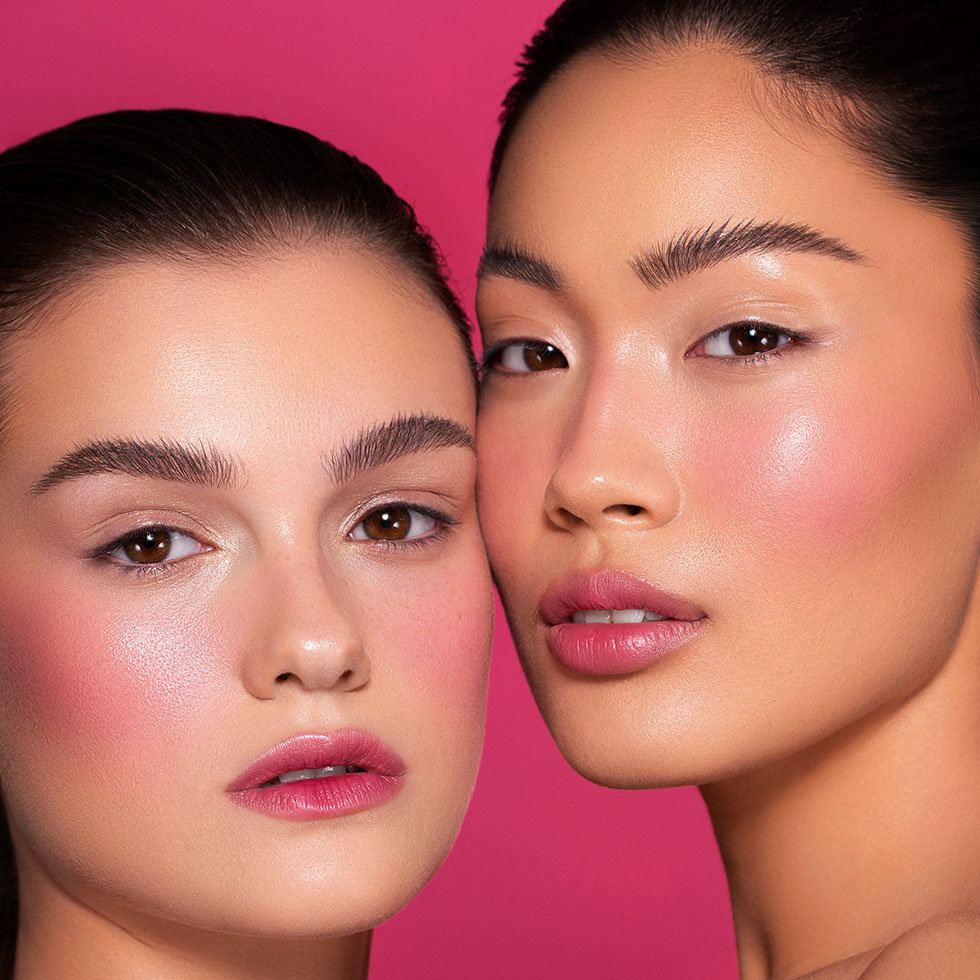 Natasha Denona Zendo Palette + Puff Paint Models wearing shade Bloom