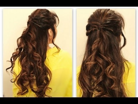 long hair everyday styles twisted flip half up updo hair tutorial everyday 4269 | cute twisted flip half up updo hair tutorial everyday long hairstyles for school