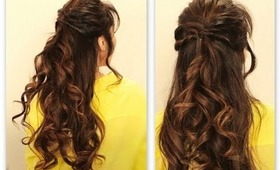 ★CUTE TWISTED-FLIP HALF-UP UPDO HAIR TUTORIAL | EVERYDAY LONG HAIRSTYLES FOR SCHOOL