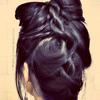 Cute Rope Braided, Hair Bow Tutorial - Upside Down Braid