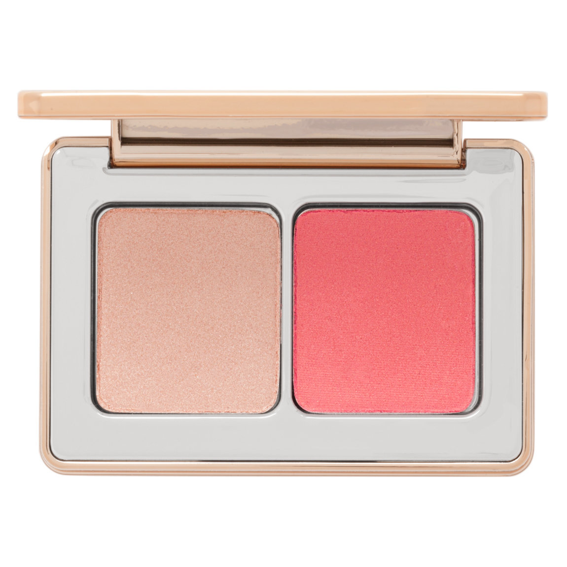 Natasha Denona Mini Blush Glow Duo product swatch.