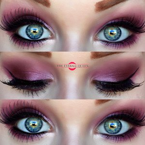 Natural is beautiful, but color can be JUST as striking :)! http://theyeballqueen.blogspot.com/2016/08/new-bohemian-hippie-lilac-red-smokey.html