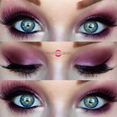 Lilac & Red Smokey Eye