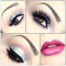 New Years glitter makeup