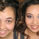 Prom Makeup ~ Before and After
