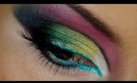 Dark Rainbow Arab Makeup Tutorial