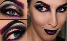 Maleificent / Witch / Sorceress / Black Widow Halloween Makeup
