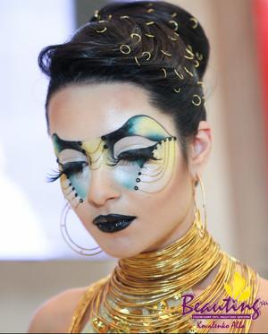 My work at the International Makeup Contest Nevskie Berega in Saint Petersburg 3d place