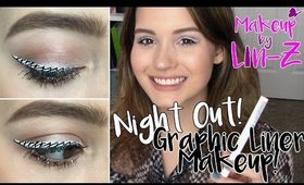 Black & White Graphic Liner Makeup Tutorial: Party, Night Out, Event Makeup!
