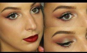 Green & Red Makeup Tutorial ♥