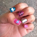 nails fashion design pink & blue