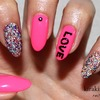 KKN recreates: Neon Caviar Nails