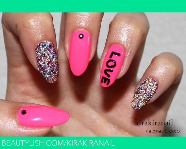 Kkn Recreates Neon Caviar Nails Kirakiranail Ks Kirakiranail