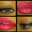 Blue Eyeliner - Hot Pink Lippie