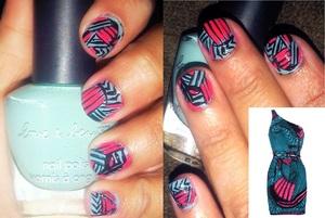 My tribal nails 2012!
