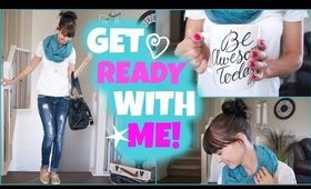 GRWM: Quick Mommy Makeup, Hair and Outfit!