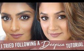 I Tried Following a Deepica Mutyala Makeup Tutorial