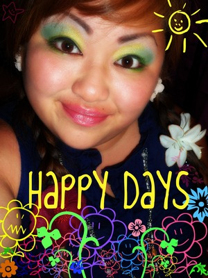 happy days are not over =] But not a look you should wear everyday xD