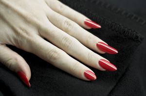 Nails Illamasqua in Aorta Off brand nail tape Revlon top coat  More info here: http://bit.ly/RpX8HF
