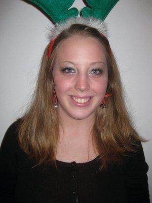My friend Meredith as a cute reindeer