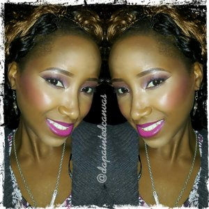 A semi smoky neutral berry colord eye...with berry soft glossy lips. Fun for any night time occasion!