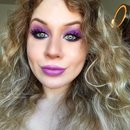 Electric Purple Orchid Smokey Eye
