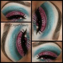 Pink & Blue Cut Crease