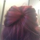 red scruffy bun