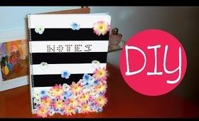 Spring DIY - striped floral notebook design!