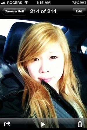 Don't know if I should go back blonde...hmm..