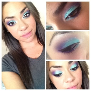 Bright teal and purple colors from Sedona lace 120 pro pallet