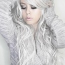 Silver Curly Hair