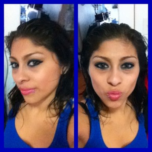 Playing with the make up & I came out doing a blue look.