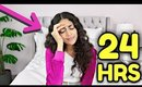 24 HOUR OVERNIGHT ROOM CHALLENGE!!! *I went crazy!*