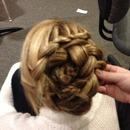 Princess braid bun.<3