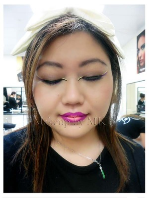 High Fashion lesson My Face chart Design Recreate makeup application by a classmate