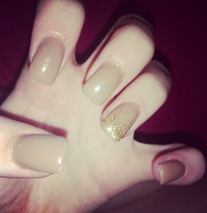 #freehand #brown #gold #glitter #gradient #ombre