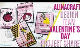 AlinaCraft Design Team Project Share! Valentines Day Shaker, Valentines Day Cards & MORE