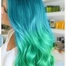 Aqua Ombre Hair