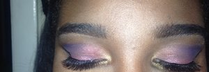 I used a eyeshadow duo i purchase at my local beauty supply store