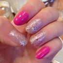 pink lame nail