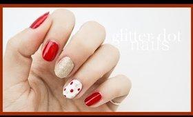 Glitter Dot Nails ● Nail Art