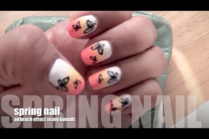 Hey guys check out my spring/ butterfly Nail tutorial !!!
