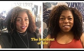 The braid out of life for fine natural hair